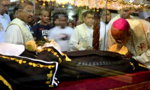 Bishop of the Diocese of Butuan, His Eminence, Most Reverend Juan De Dios Pueblos, DD., who venerates the saint of impossible, St. Rita of Cascia